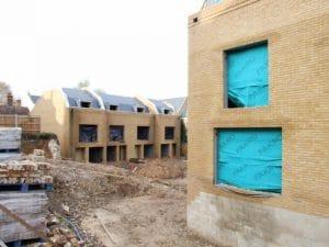 photograph of housing development