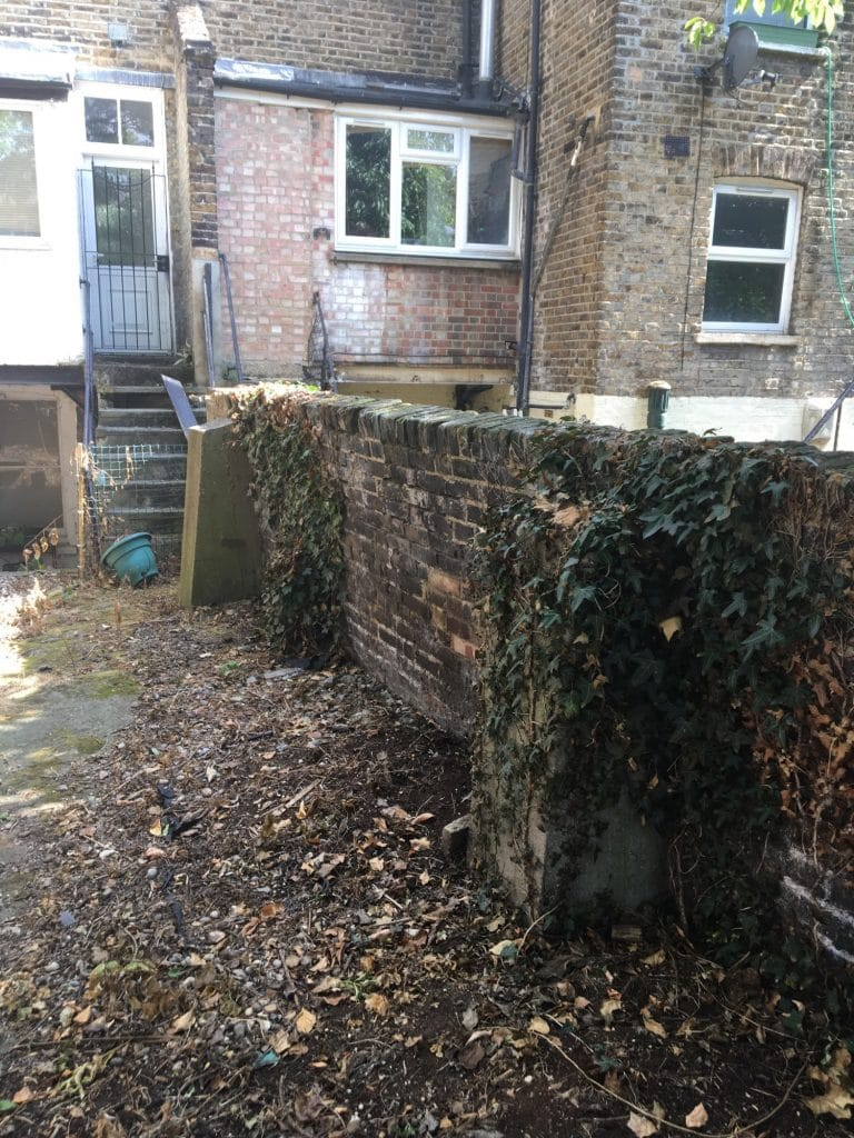 Example of a bad garden wall.