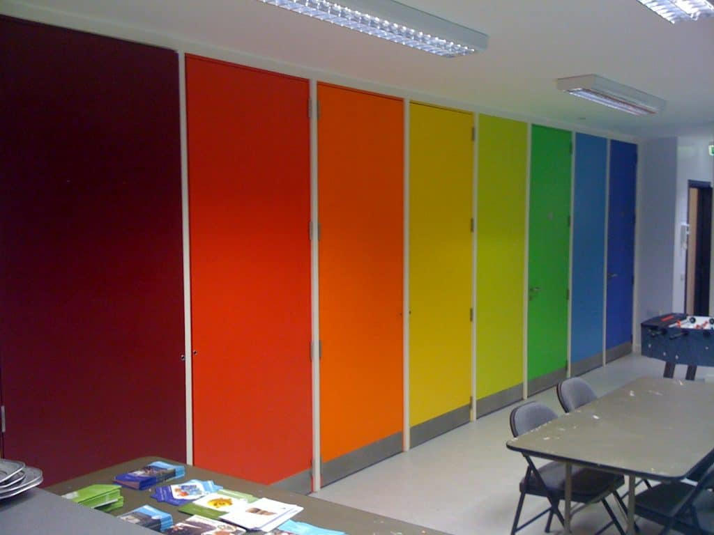 image of multi-coloured doors