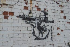 Graffiti art on wall