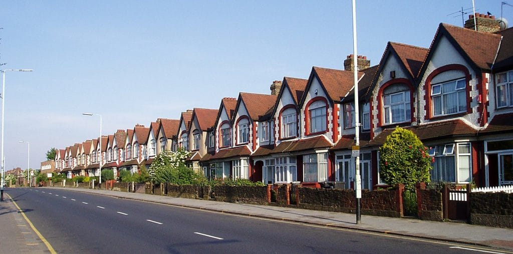 Image of row of terraced houses.